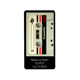 Geeky nerdy 1980s cassette retro cassette tape label