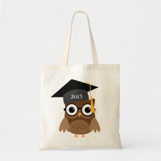 Geeky Owl with Glasses and Cap Graduation Bag