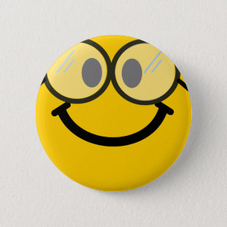 Geeky smiley 2 inch round button