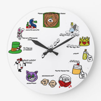 geeky wonderland time for kids wall clock