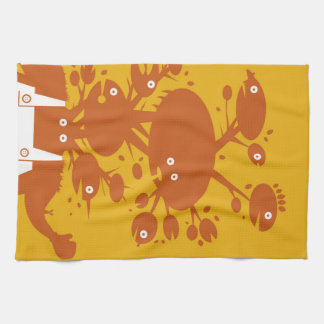 Geen man - Orange Option Kitchen Towel