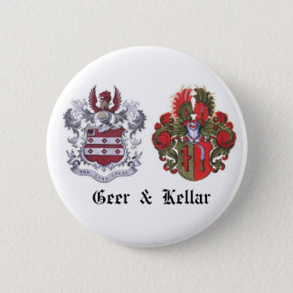 GEER & KELLAR Family Crest 2 Inch Round Button