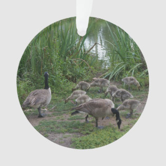 Geese and Goslings Ornament