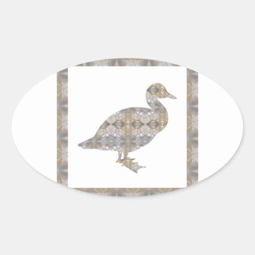 GEESE Bird CRYSAL Stone Pattern NVN429 FUN KIDS Oval Stickers