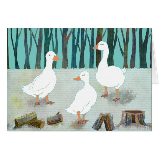 Geese: Blank Card
