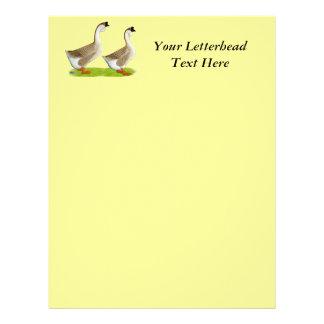 Geese:  Buff African Custom Letterhead