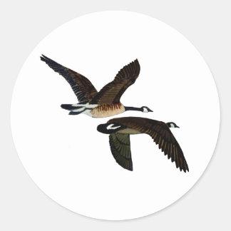 geese classic round sticker