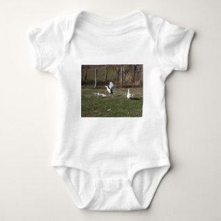 Geese fighting baby bodysuit