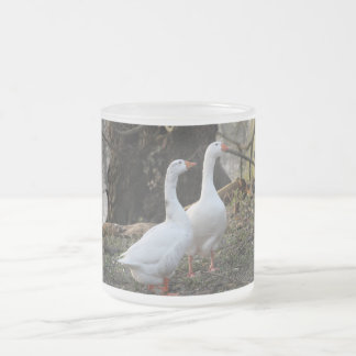 Geese Frosted Glass Coffee Mug