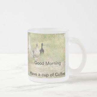Geese Glass Coffee Mug