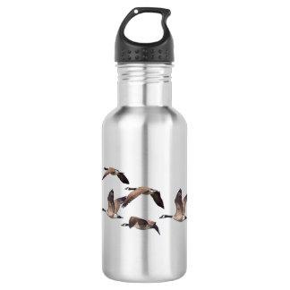 Geese in flight 532 ml water bottle