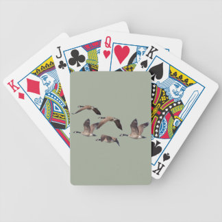 Geese in flight bicycle playing cards