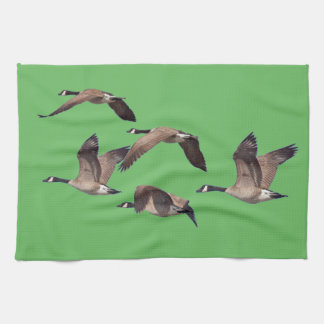 Geese in flight kitchen towel
