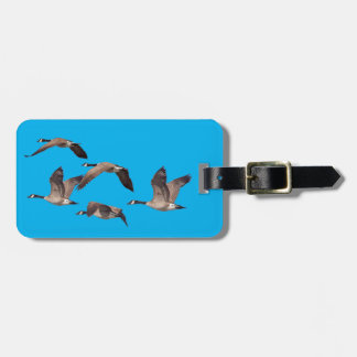 Geese in flight luggage tag