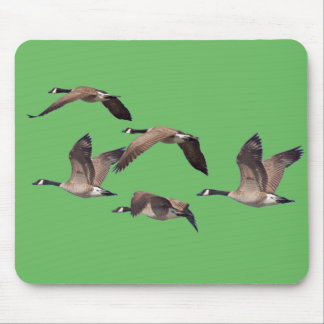 Geese in flight mouse pad