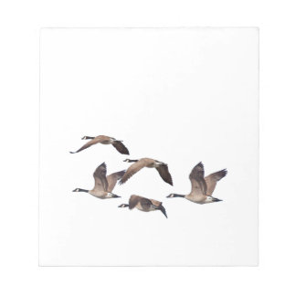 Geese in flight notepad