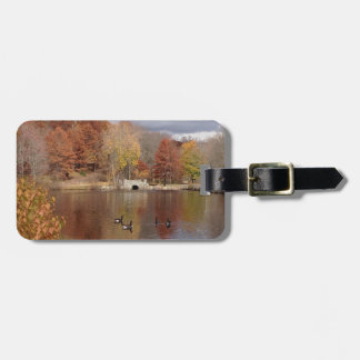 Geese in Reflected Fall Colors - Bag Tag