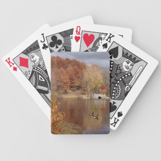 Geese in Reflected Fall Colors - Bicycle Playing Cards