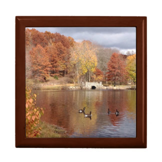 Geese in Reflected Fall Colors - Trinket Boxes