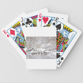 Geese in Snow Bicycle Playing Cards