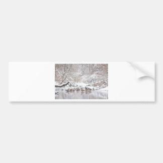 Geese in Snow Bumper Sticker