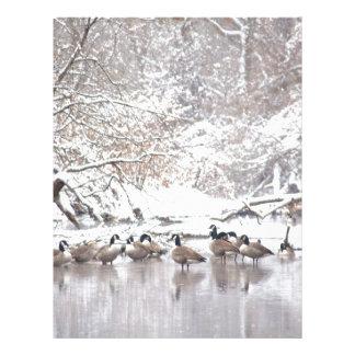 Geese in Snow Letterhead