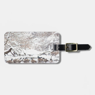 Geese in Snow Luggage Tag