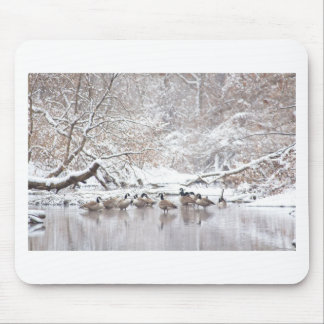 Geese in Snow Mouse Pad