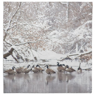 Geese in Snow Napkin