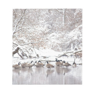 Geese in Snow Notepad