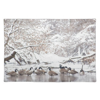 Geese in Snow Placemat