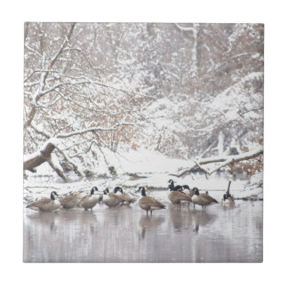 Geese in Snow Tile