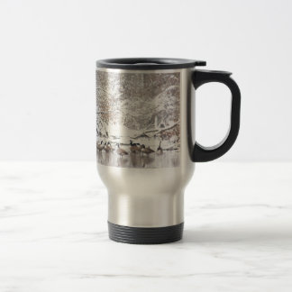 Geese in Snow Travel Mug