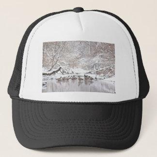 Geese in Snow Trucker Hat