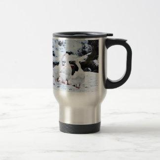 Geese in Winter Travel Mug