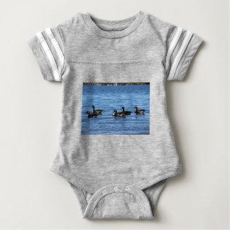 Geese on Lake Baby Bodysuit