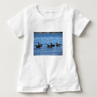 Geese on Lake Baby Romper