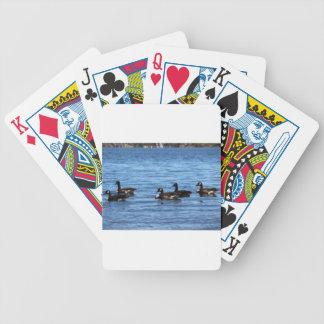 Geese on Lake Bicycle Playing Cards