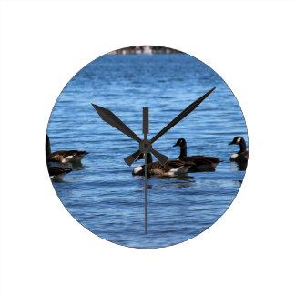 Geese on Lake Clocks