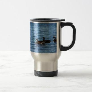 Geese on Lake Travel Mug