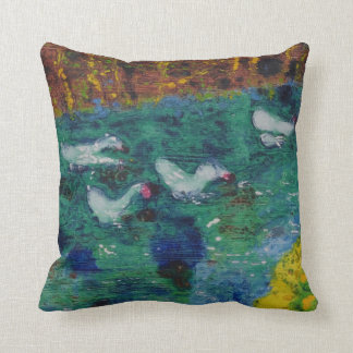 Geese on the canal cushion