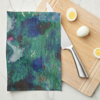 Geese on the canal tea towel