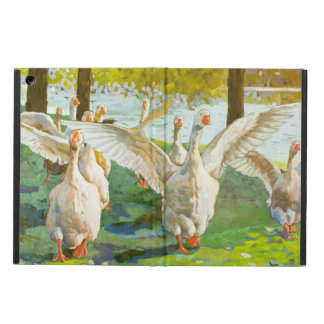 Geese Running Through The Green Park Case For iPad Air
