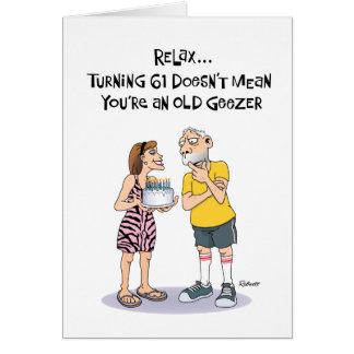 Geezer's 61st Birthday Card