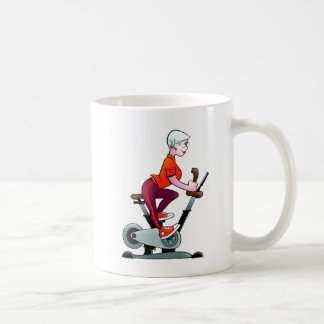 Geezers Go For It Stationary Bike  Female Mug