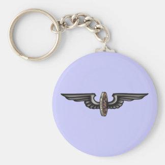 geflügeltes Rad flying wheel Basic Round Button Keychain