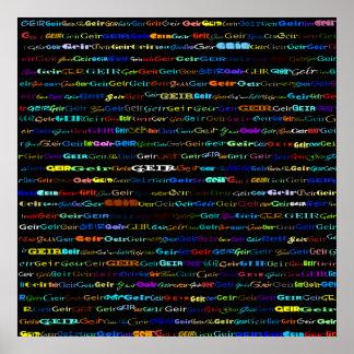 Geir Text Design I Print