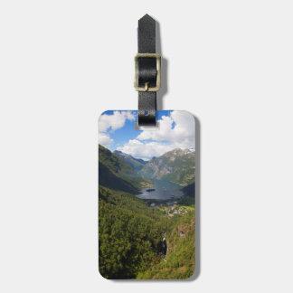 Geiranger Fjord landscape, Norway Bag Tag