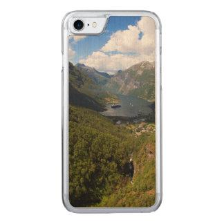 Geiranger Fjord landscape, Norway Carved iPhone 8/7 Case
