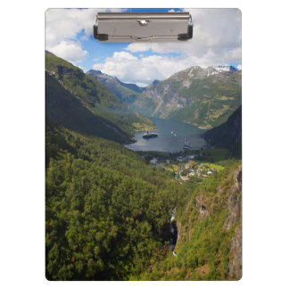 Geiranger Fjord landscape, Norway Clipboard